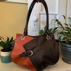 Vintage Y2K Espe brown and orange shoulder bag